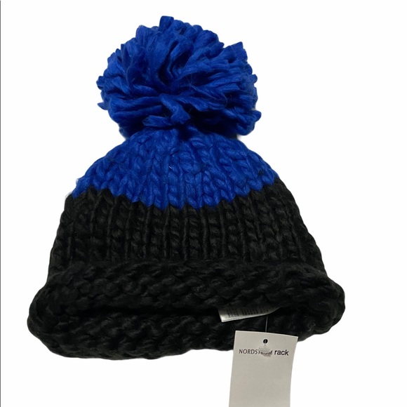 Free people color block pin beanie